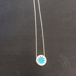 Gold and blue necklace